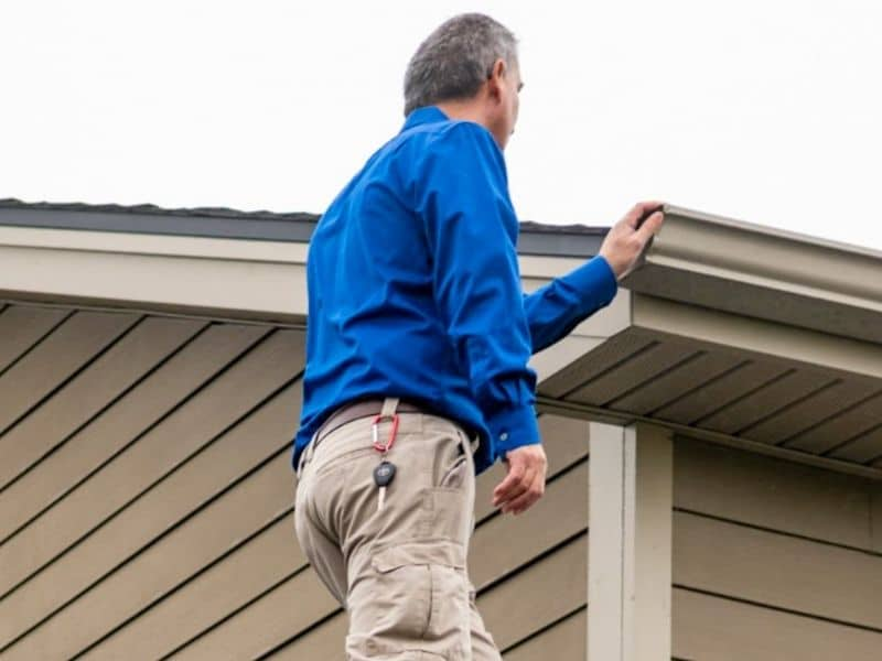 Mike Inspecting Cincinnati Roof