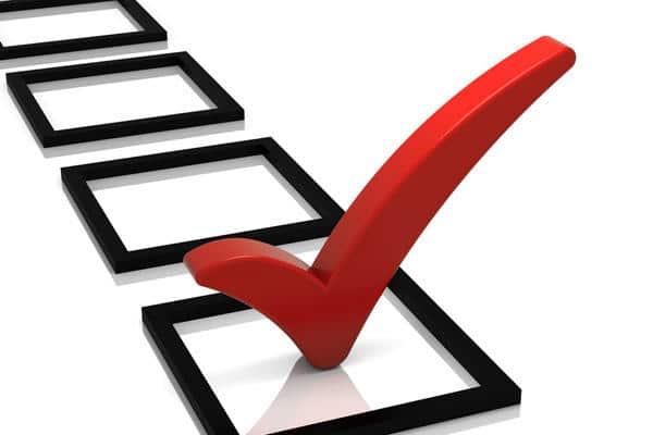 pre listing check list